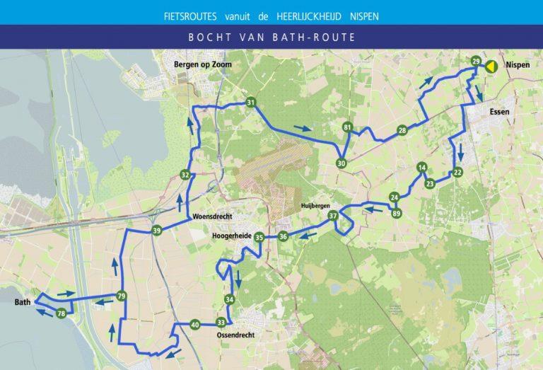 Bocht van Bath route